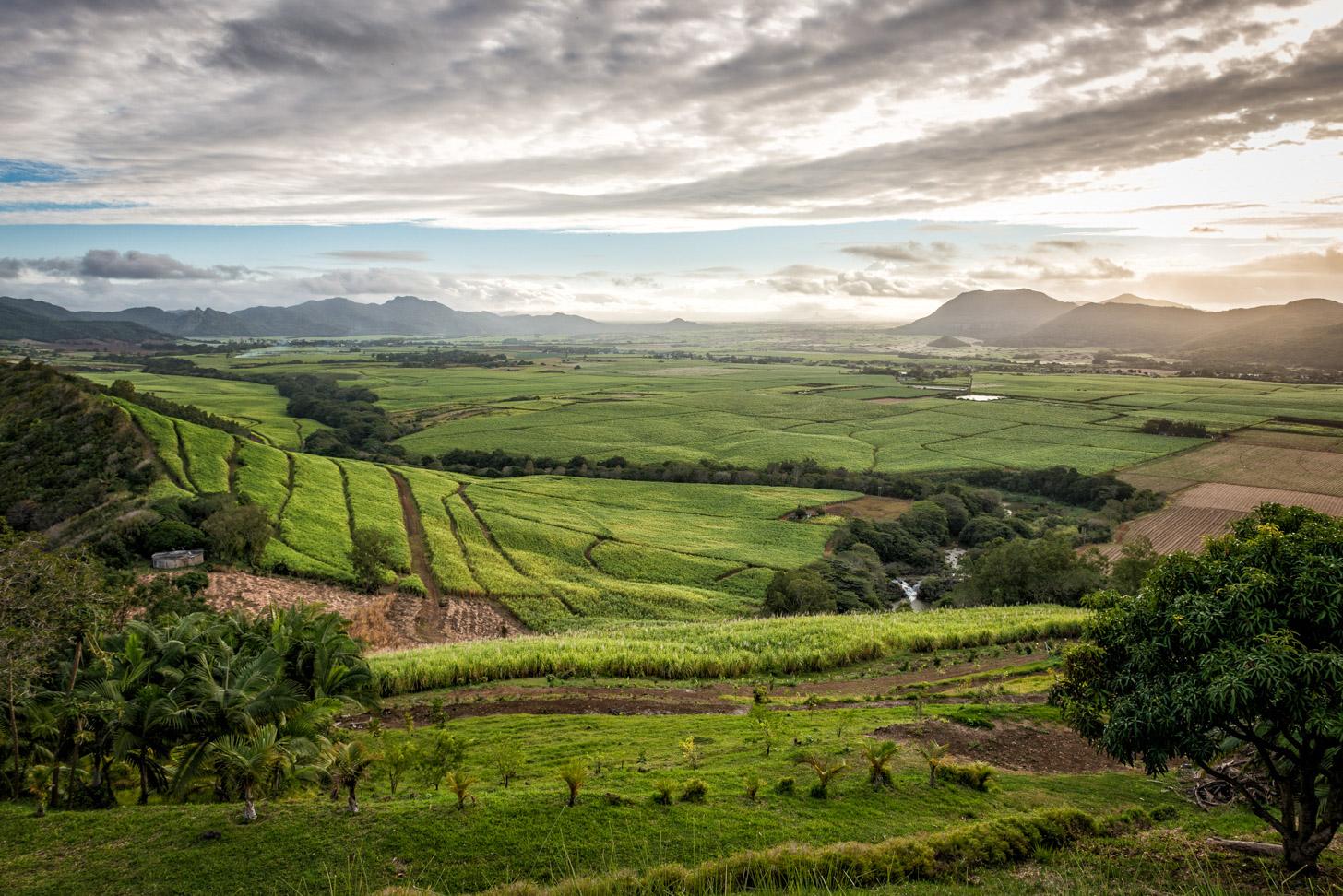 Het landschap van Mauritius