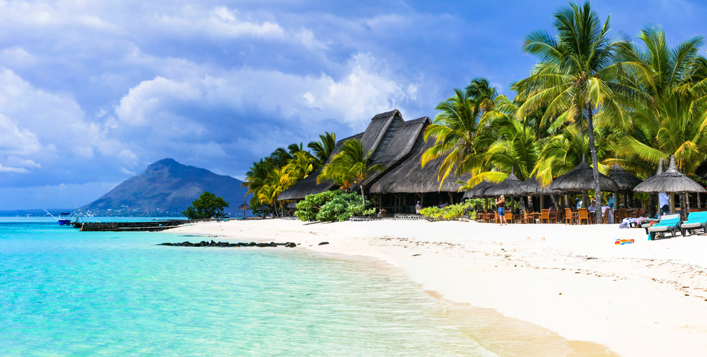 stranden van Mauritius