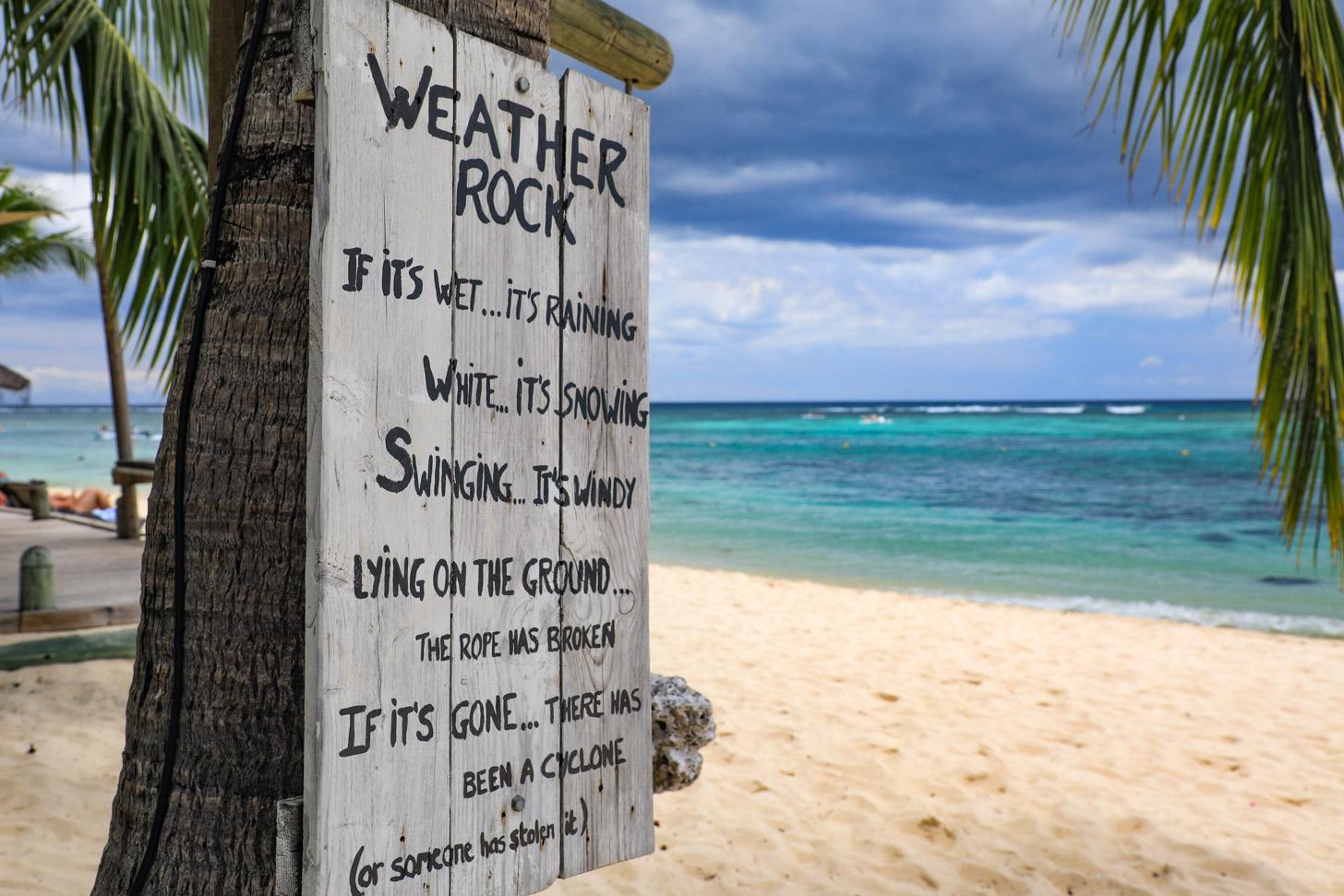 Het weer op Mauritius